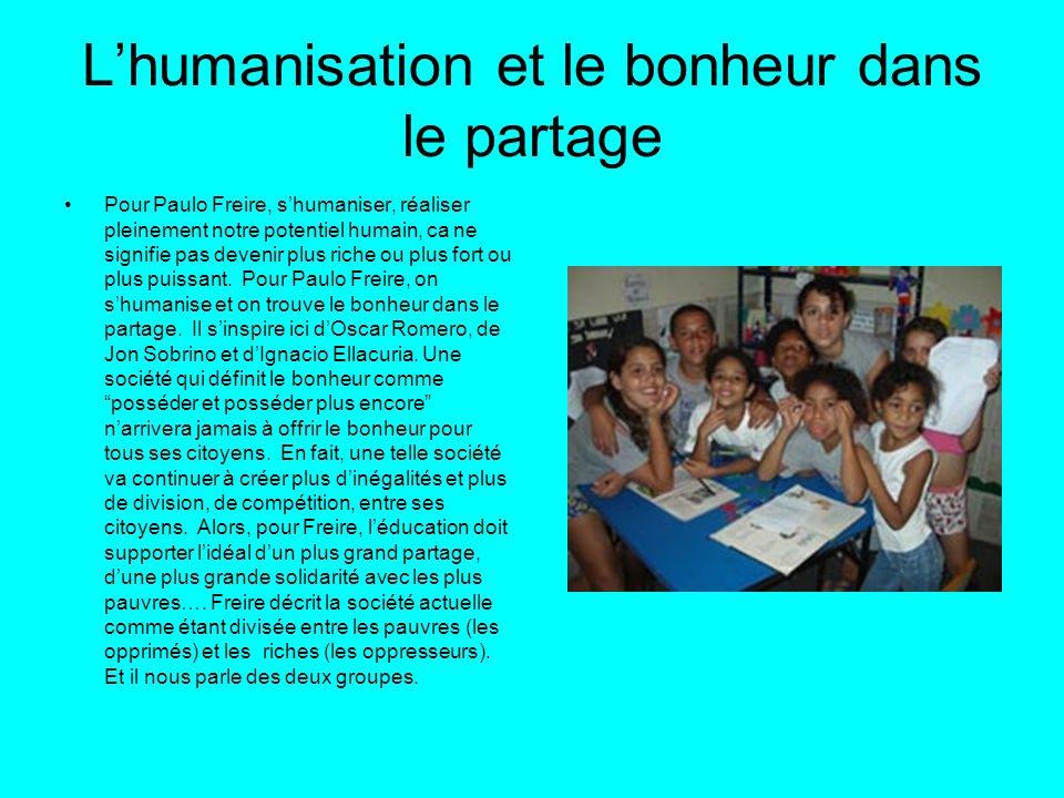 L'humanisation et le bonheur dans le partage