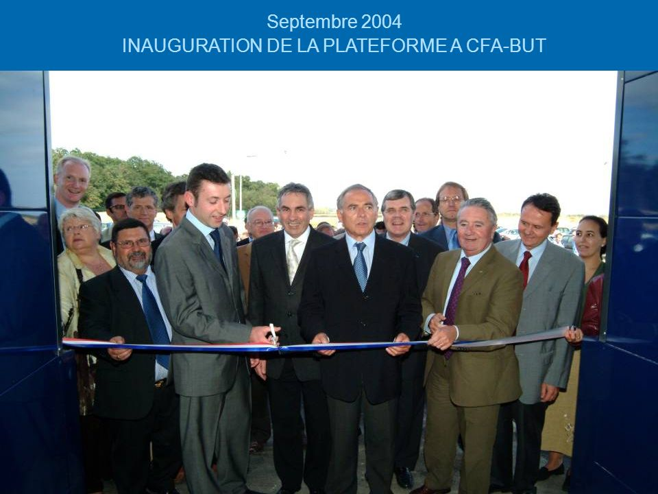 INAUGURATION DE LA PLATEFORME A CFA-BUT