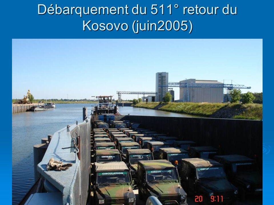 Débarquement du 511° retour du Kosovo (juin2005)