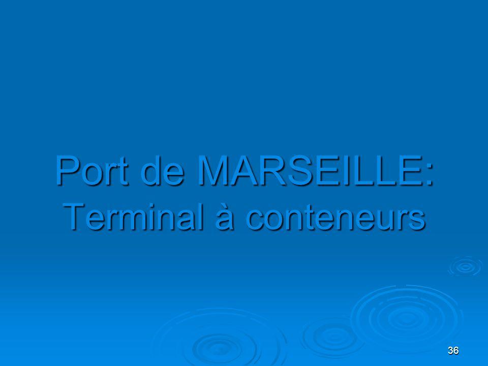 Port de MARSEILLE: Terminal à conteneurs
