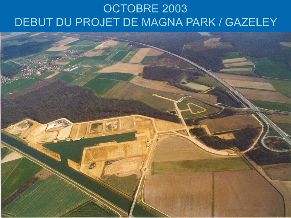 DEBUT DU PROJET DE MAGNA PARK / GAZELEY