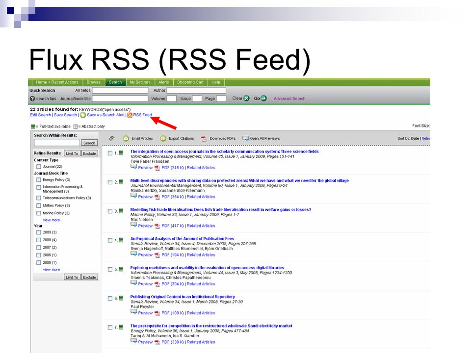 Flux RSS (RSS Feed)