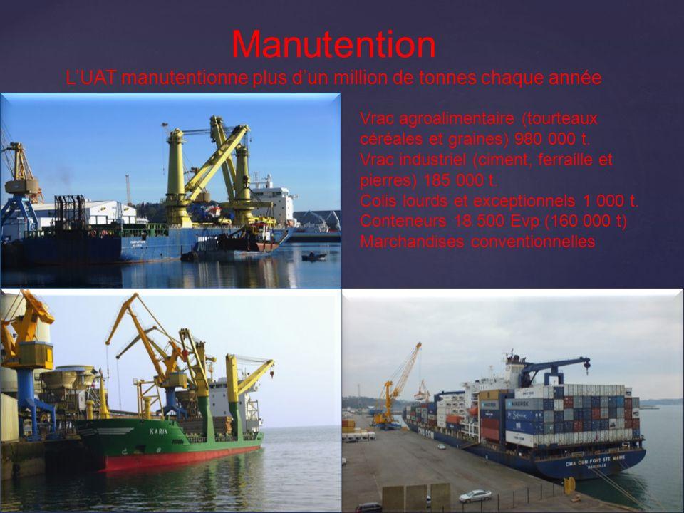 L'UAT manutentionne plus d'un million de tonnes chaque année