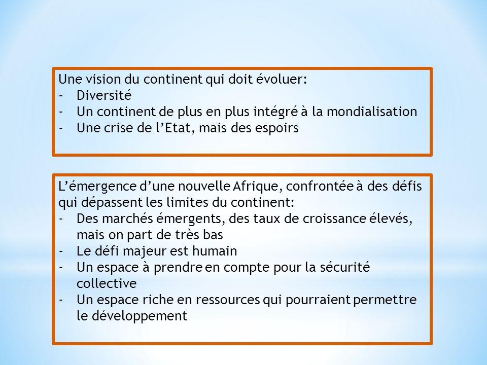Une vision du continent qui doit évoluer: