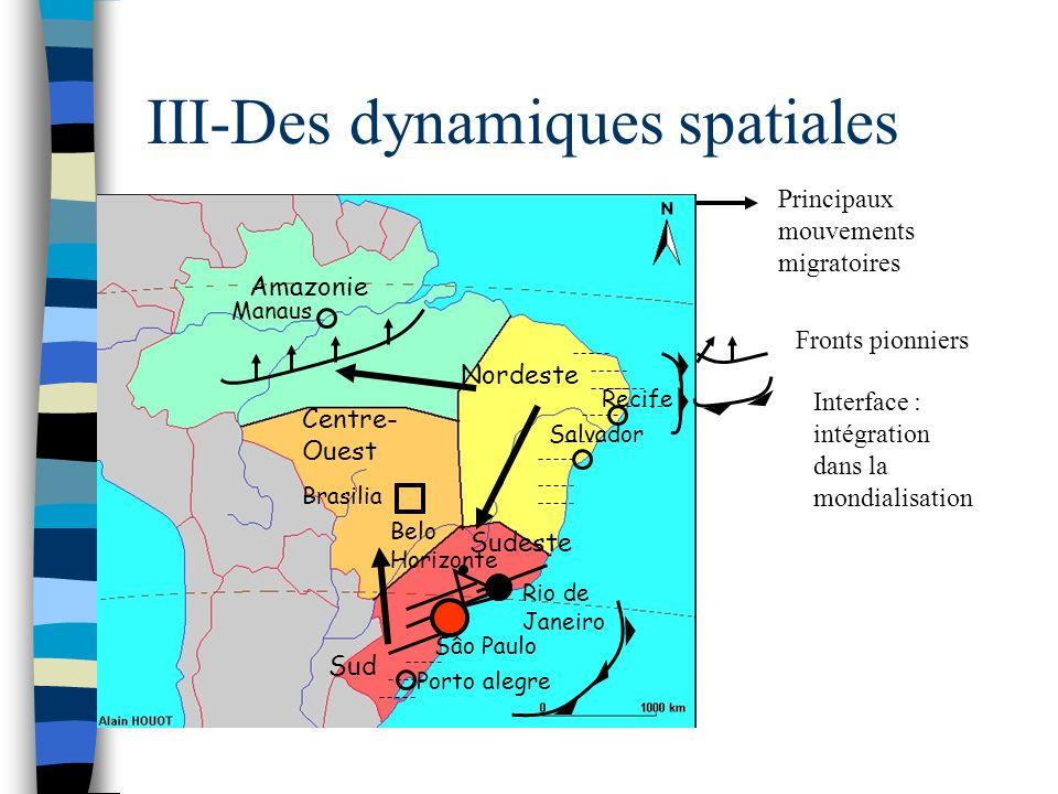 III-Des dynamiques spatiales