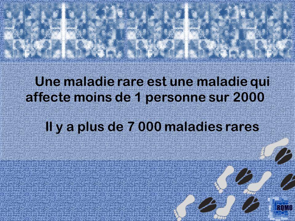 Il y a plus de 7 000 maladies rares