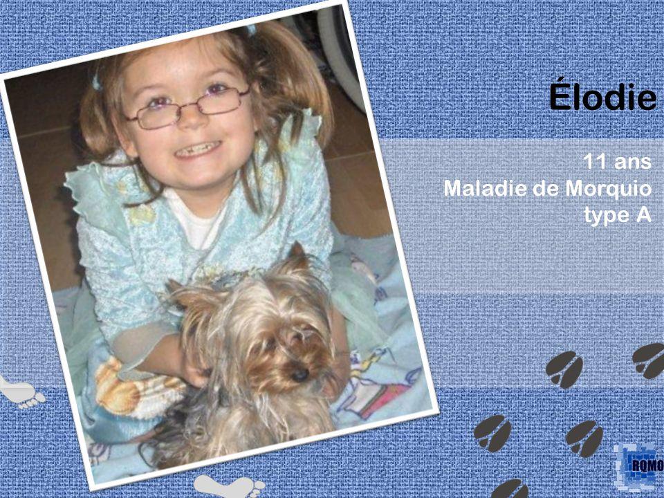 Élodie 11 ans Maladie de Morquio type A