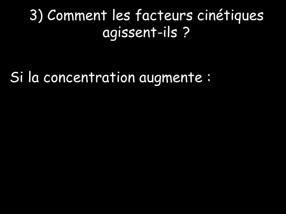 3) Comment les facteurs cinétiques agissent-ils