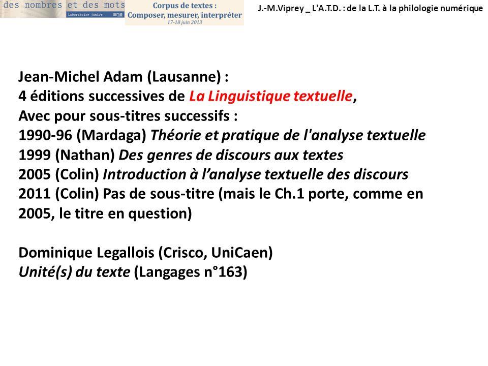 Jean-Michel Adam (Lausanne) :