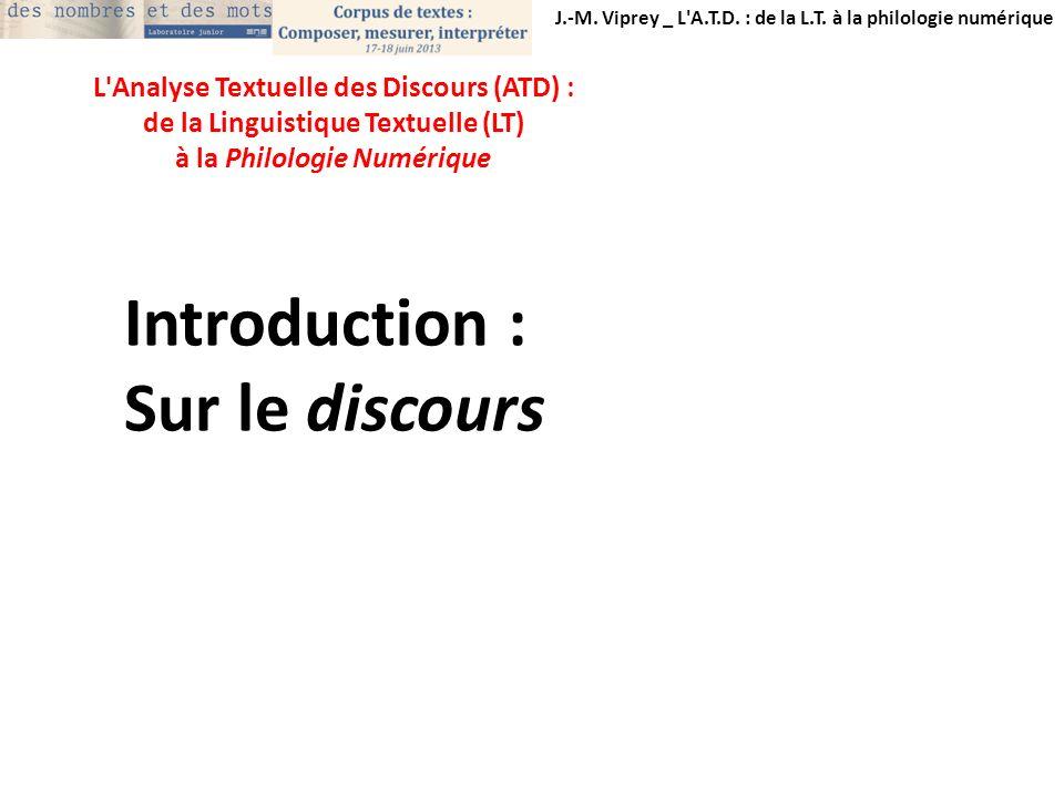 Introduction : Sur le discours