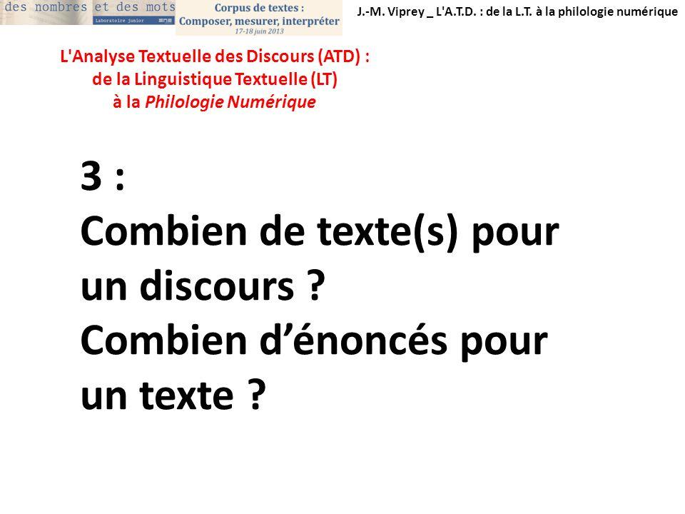 Combien de texte(s) pour un discours