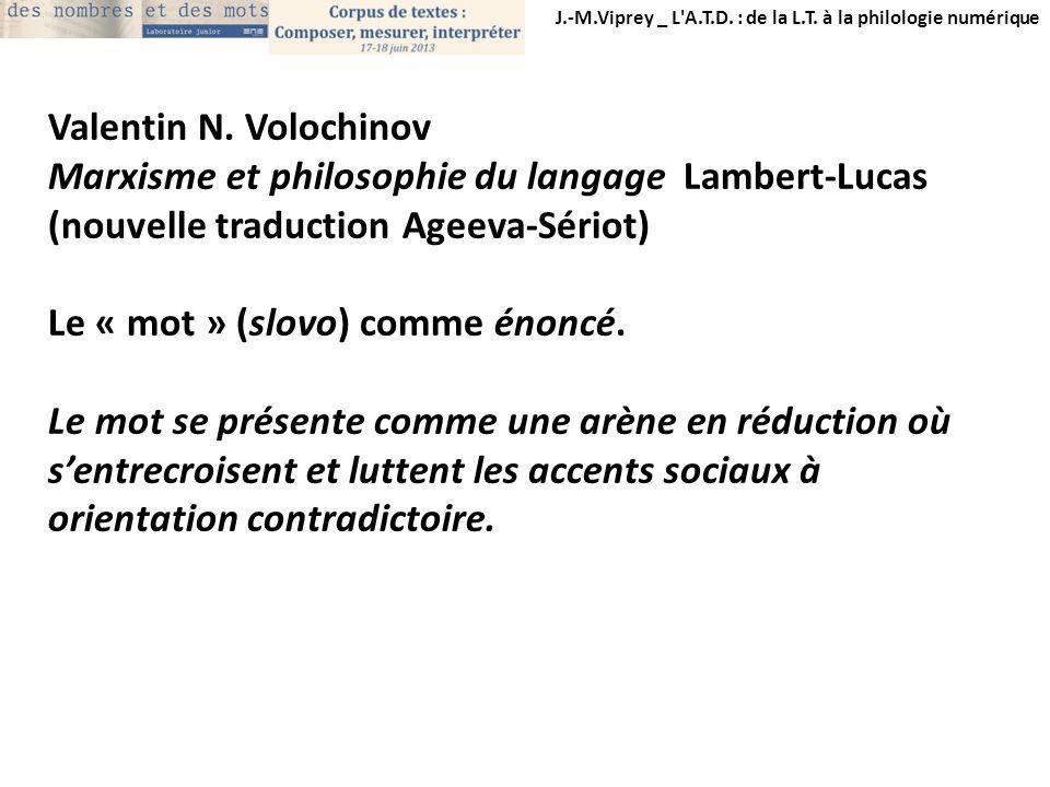 Marxisme et philosophie du langage Lambert-Lucas