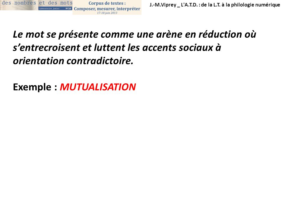 Exemple : MUTUALISATION