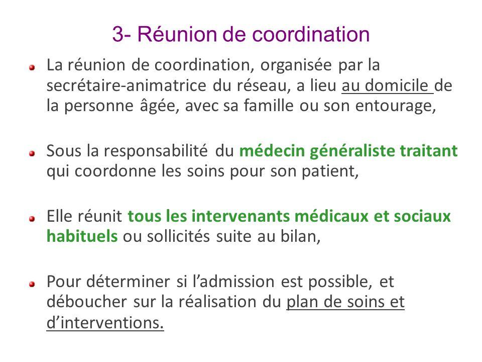 3- Réunion de coordination