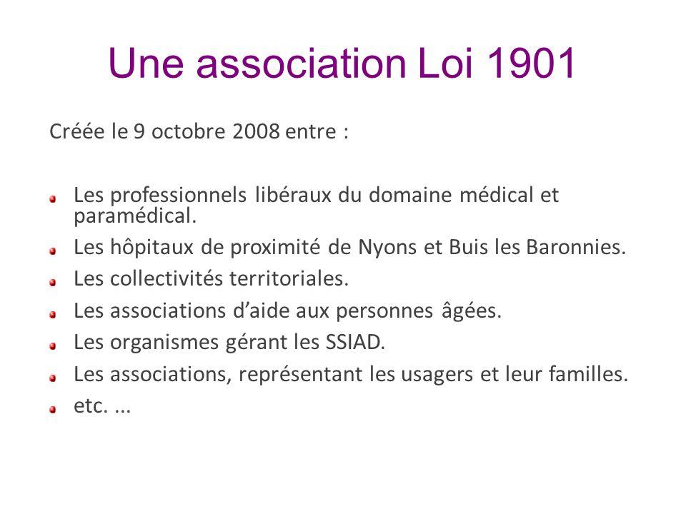 Une association Loi 1901 Créée le 9 octobre 2008 entre :