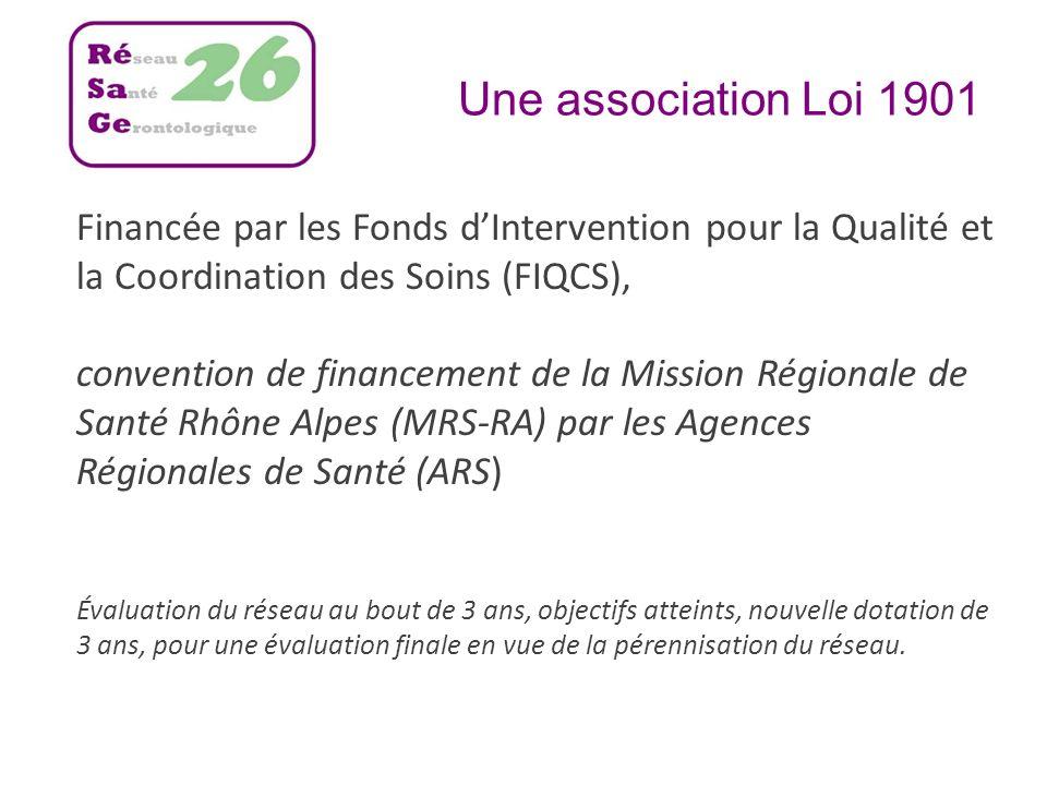 Une association Loi 1901Financée par les Fonds d'Intervention pour la Qualité et la Coordination des Soins (FIQCS),