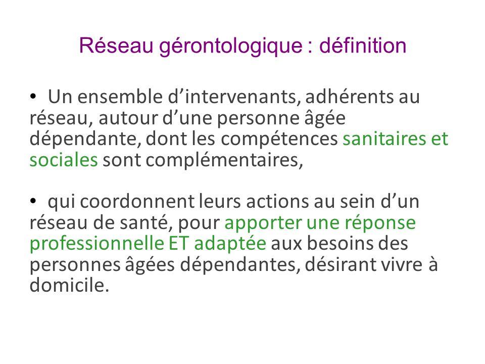 Réseau gérontologique : définition