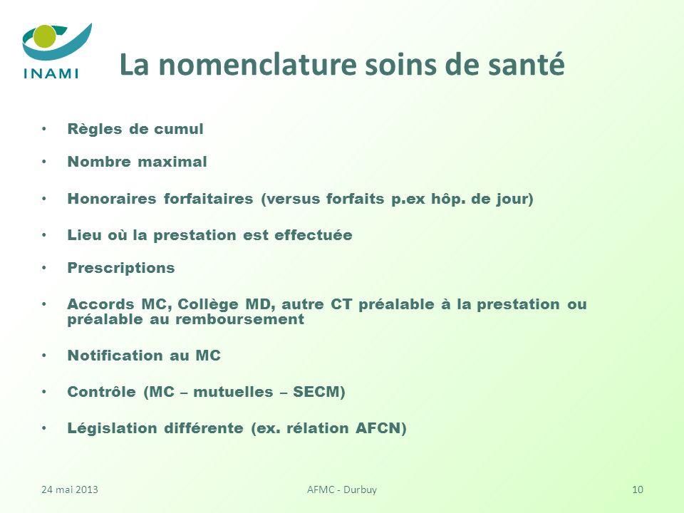 La nomenclature soins de santé