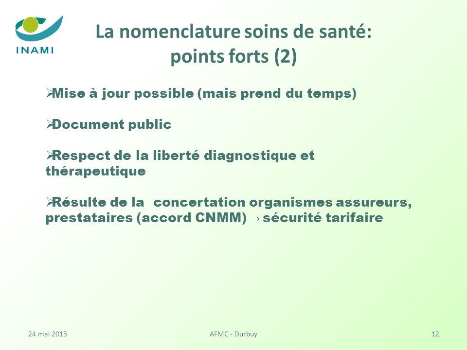 La nomenclature soins de santé: points forts (2)
