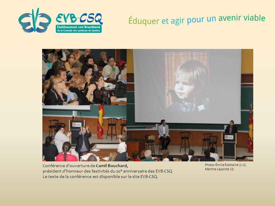 Conférence d'ouverture de Camil Bouchard,