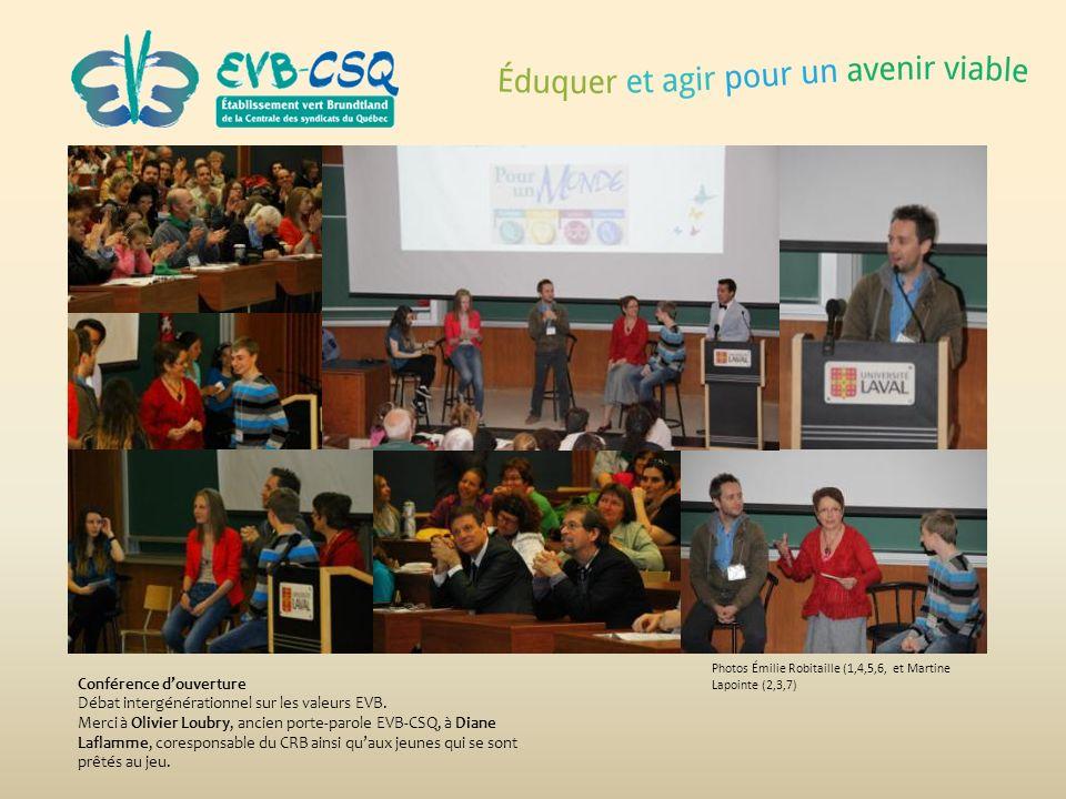 Conférence d'ouverture Débat intergénérationnel sur les valeurs EVB.
