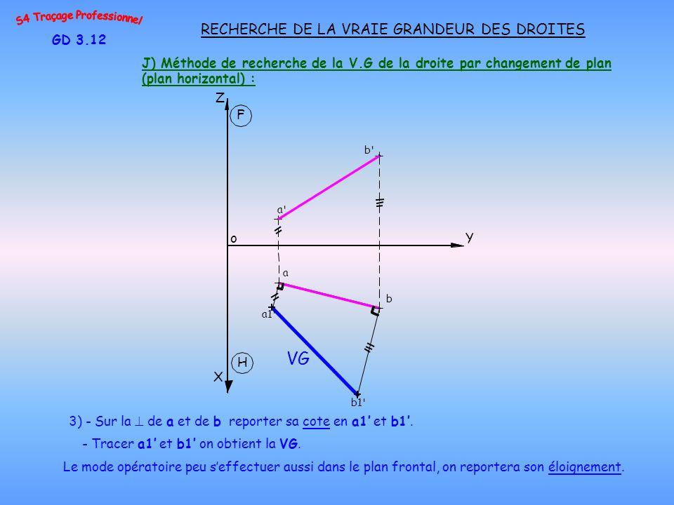 VG RECHERCHE DE LA VRAIE GRANDEUR DES DROITES GD 3.12