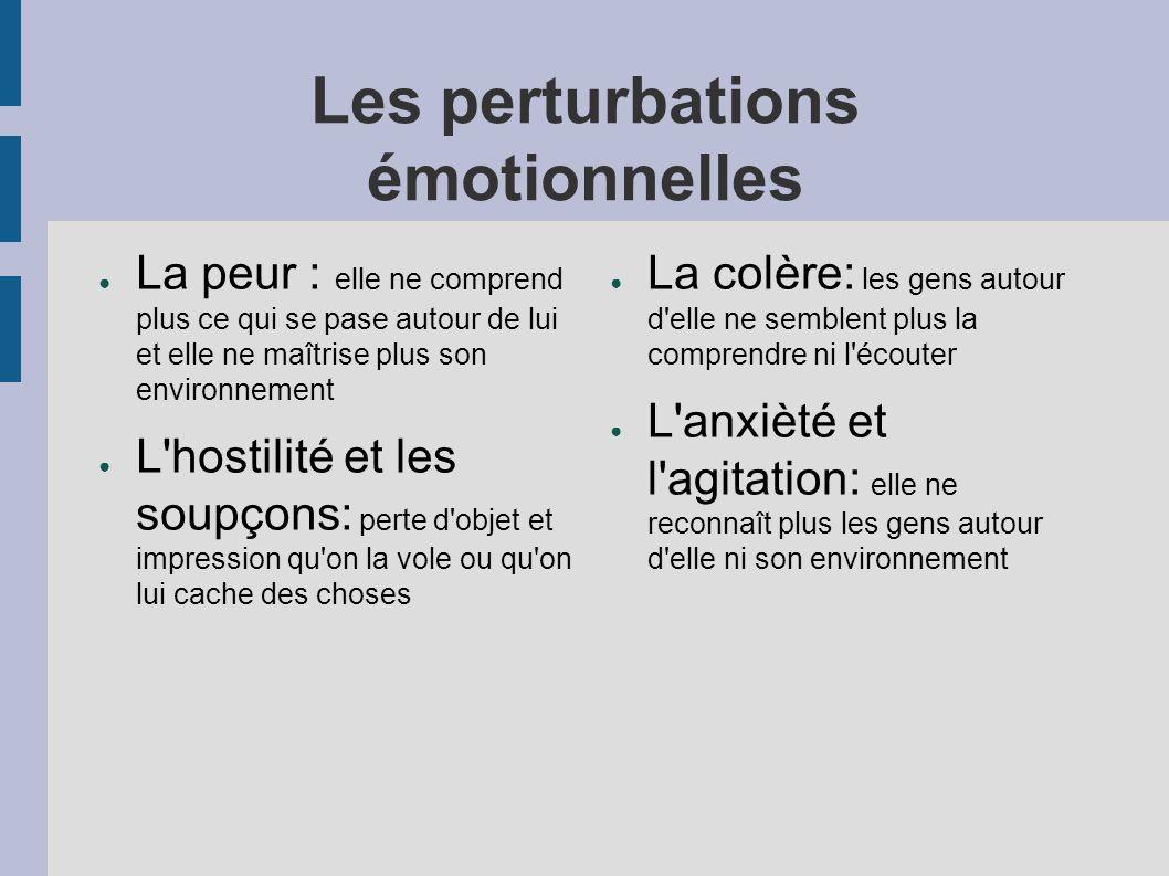Les perturbations émotionnelles