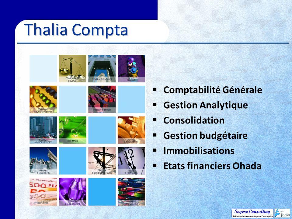 Thalia Compta Comptabilité Générale Gestion Analytique Consolidation