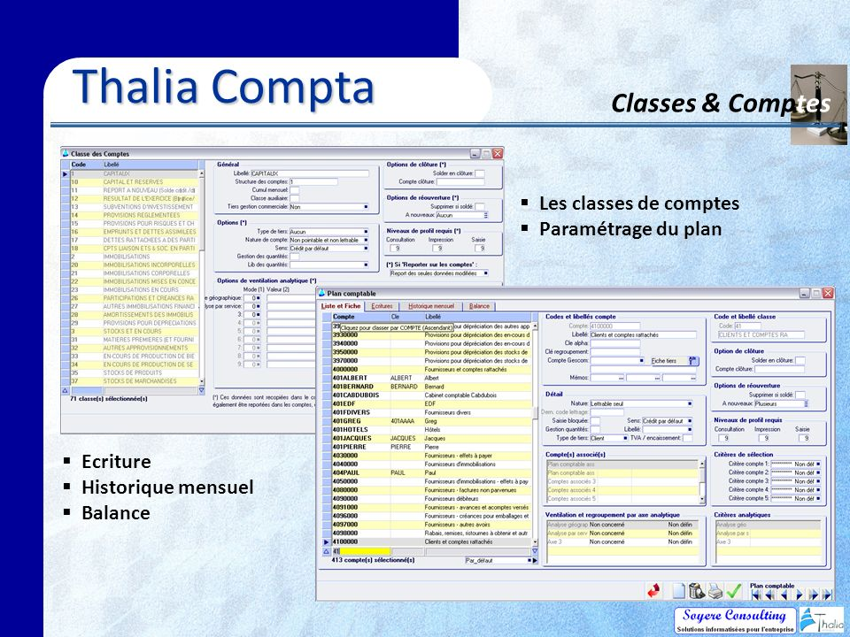 Thalia Compta Classes & Comptes Les classes de comptes