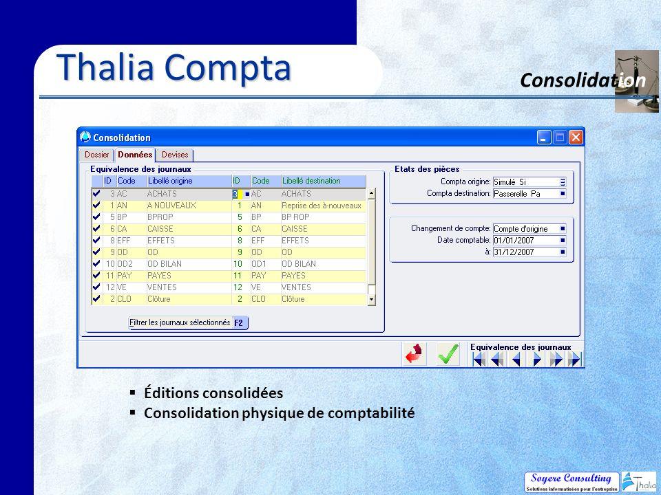 Thalia Compta Consolidation Éditions consolidées