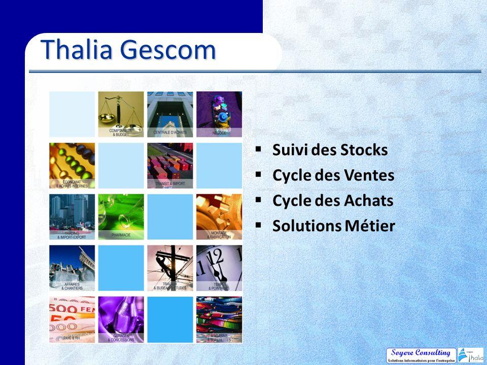 Thalia Gescom Suivi des Stocks Cycle des Ventes Cycle des Achats