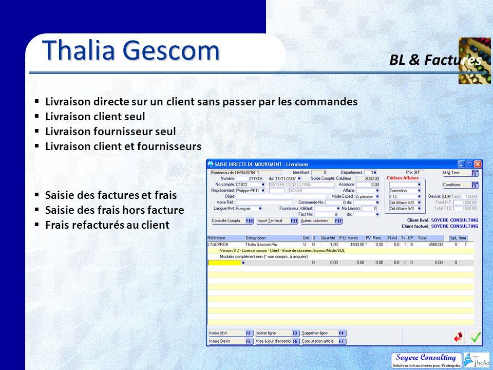 Thalia Gescom BL & Factures
