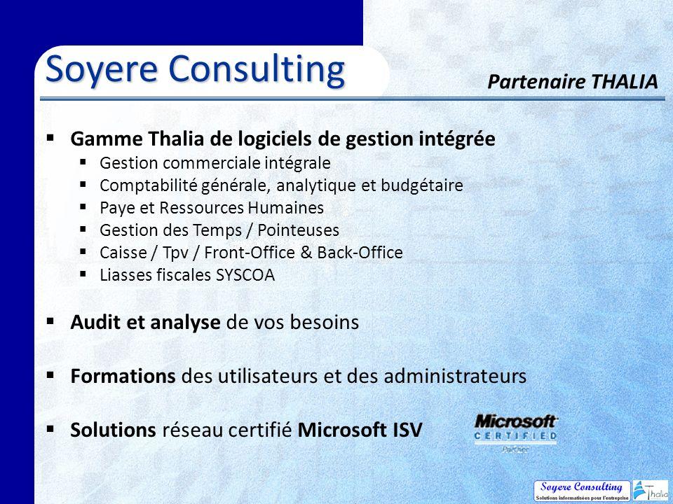 Soyere Consulting Partenaire THALIA