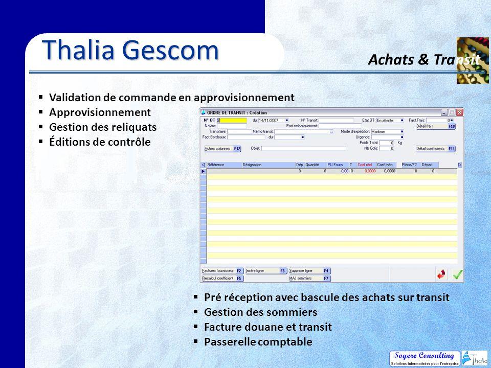 Thalia Gescom Achats & Transit