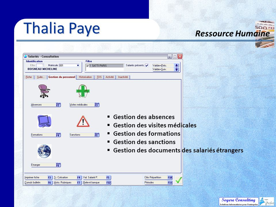 Thalia Paye Ressource Humaine Gestion des absences