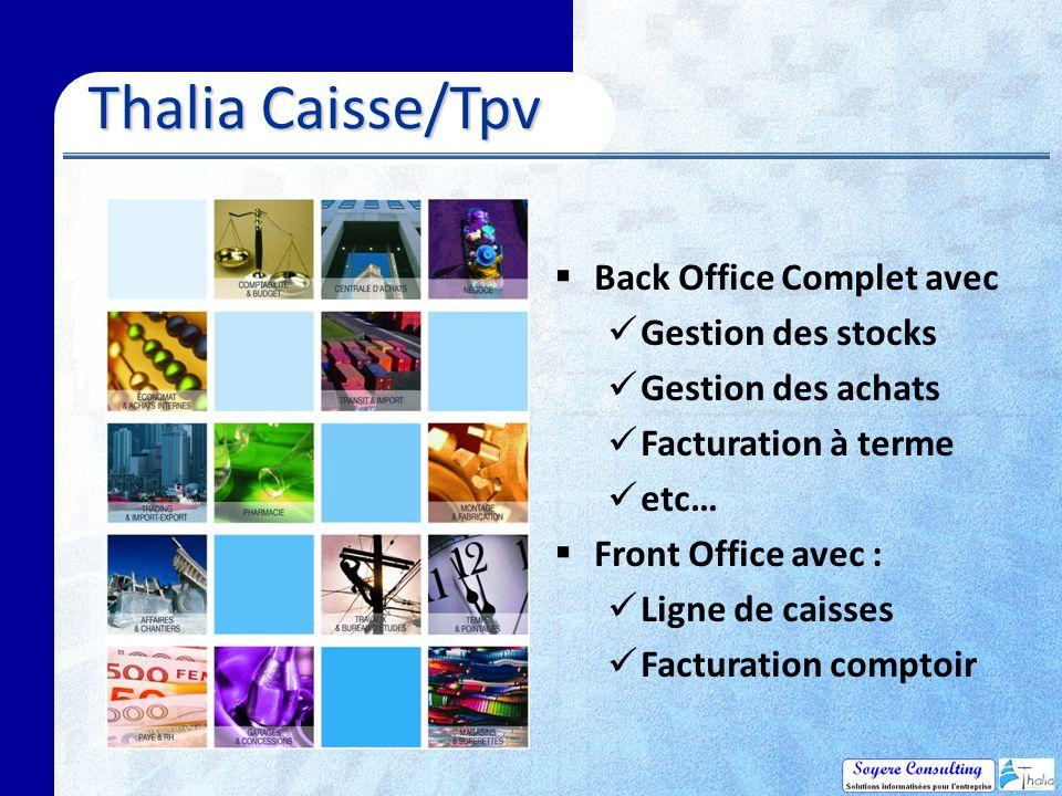 Thalia Caisse/Tpv Back Office Complet avec Gestion des stocks
