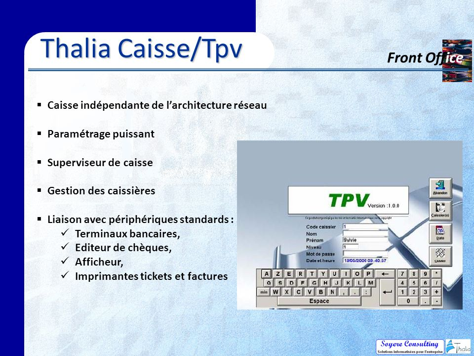 Thalia Caisse/Tpv Front Office