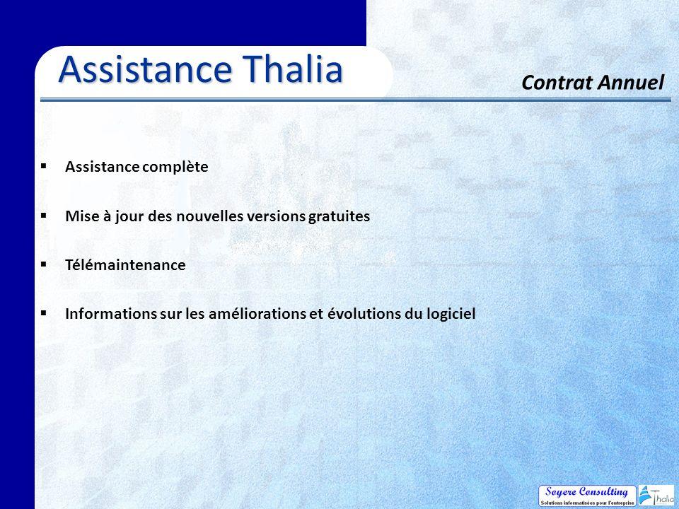 Assistance Thalia Contrat Annuel Assistance complète