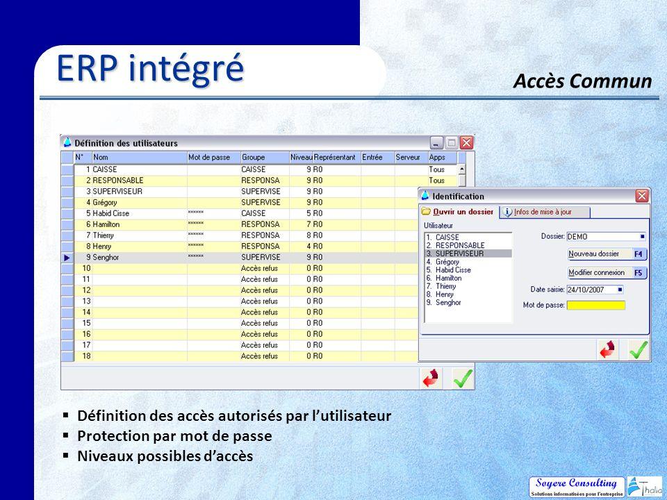 ERP intégré Accès Commun