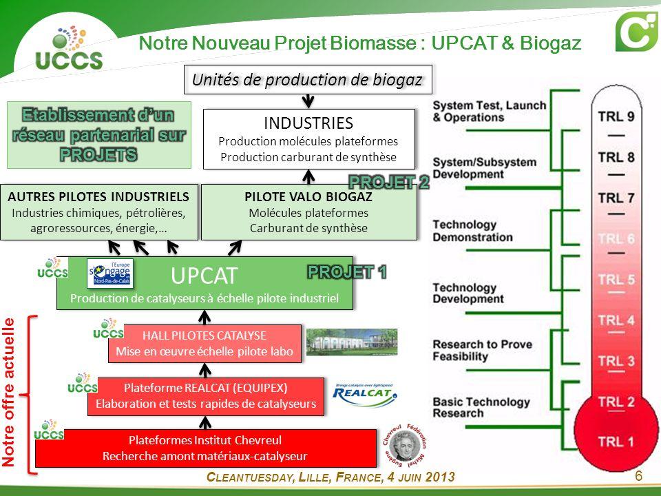 Notre Nouveau Projet Biomasse : UPCAT & Biogaz