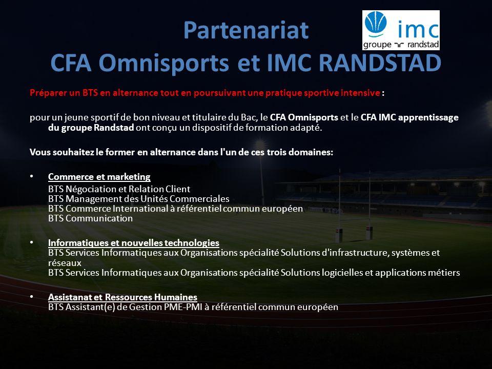Partenariat CFA Omnisports et IMC RANDSTAD