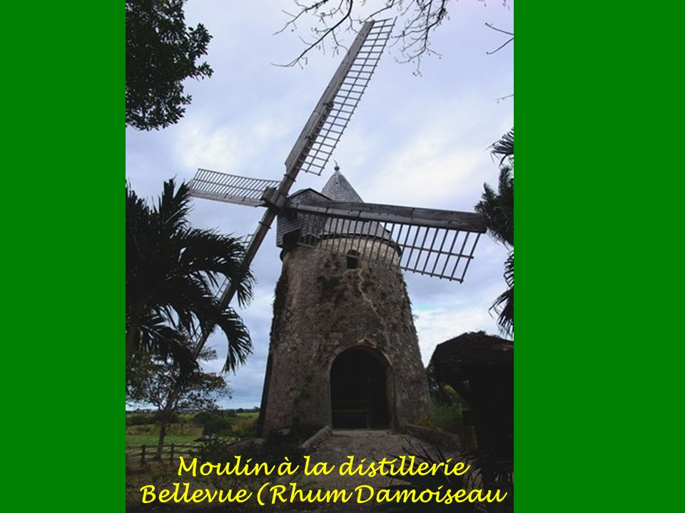 Moulin à la distillerie Bellevue (Rhum Damoiseau