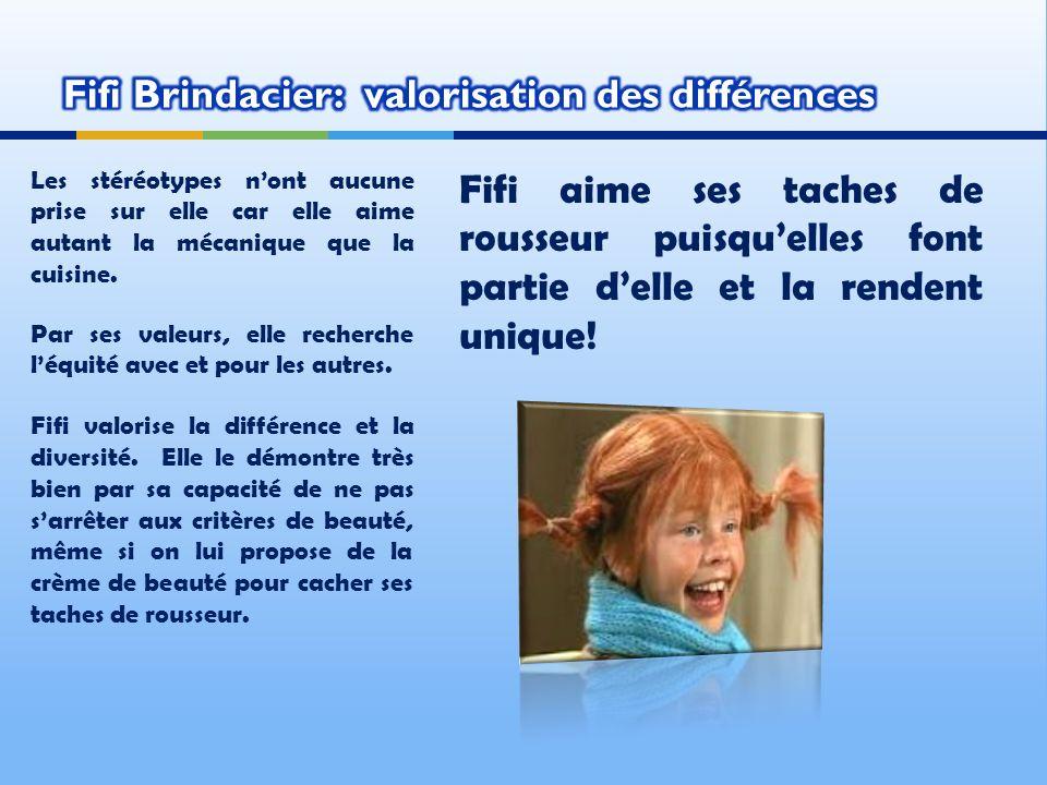 Fifi Brindacier: valorisation des différences