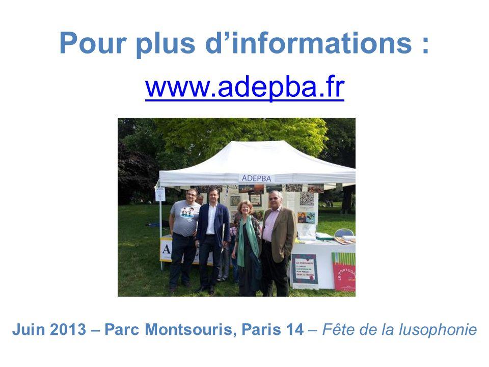 Pour plus d'informations : www.adepba.fr
