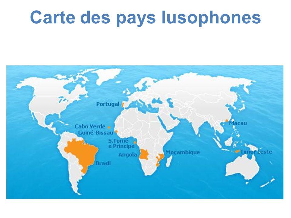 Carte des pays lusophones