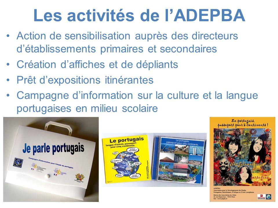 Les activités de l'ADEPBA