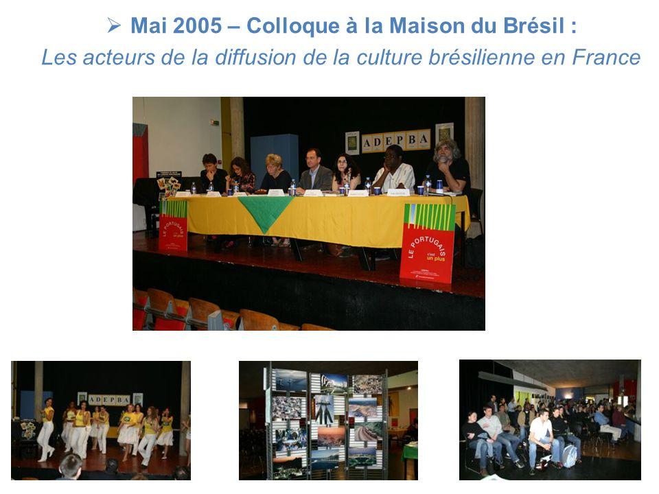 Mai 2005 – Colloque à la Maison du Brésil :