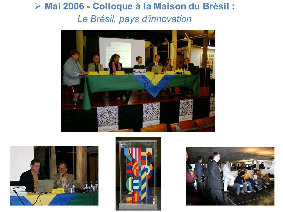Mai 2006 - Colloque à la Maison du Brésil :