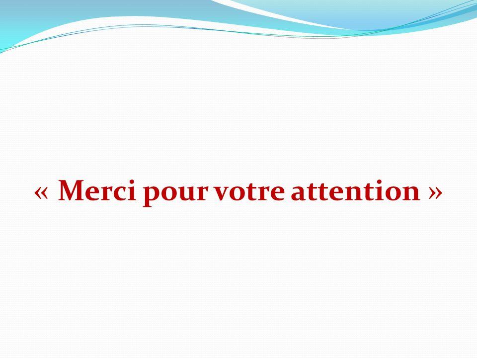 « Merci pour votre attention »