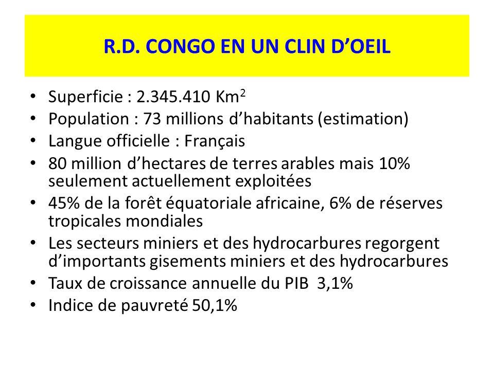 R.D. CONGO EN UN CLIN D'OEIL